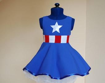 Captain america Comic Children's Dress