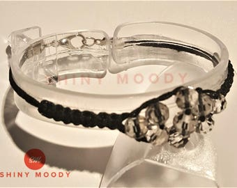 Macrame Beaded Design Handmade Bracelet Glass Beads