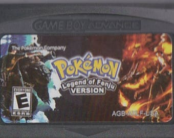 Gameboy Advance Game Boy GBA Pokemon Legend of Fenju Customized