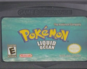 Gameboy Advance Game Boy GBA Pokemon Liquid Ocean Customized