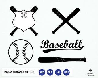 Baseball SVG cut file. Baseball bat Svg. Softball, sports svg, pdf, eps files. Baseball vector art. Baseball Clip art. Baseball Dxf