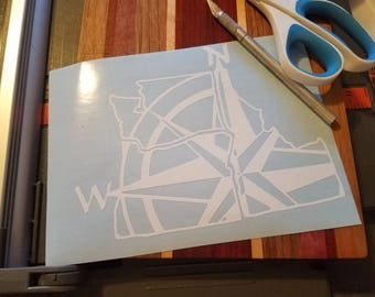 NW Compass Decal