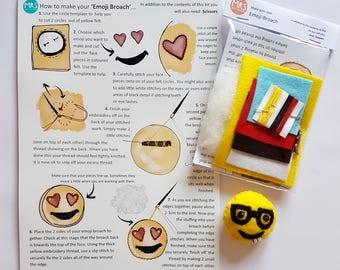 Emoji style broach kit