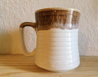 Vintage Earthenware Glazed Coffee Mug