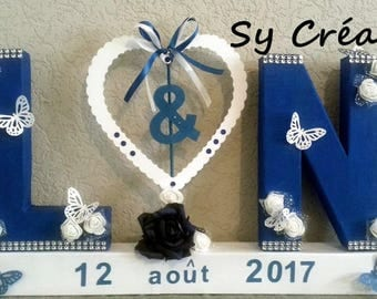 DECORATION/DECO letters for wedding/gift table, fully customizable to your colors and theme