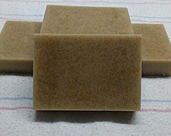 Oatmeal, Milk, and Honey Bar Soap 4 ounce bar soap