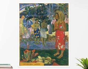 "Paul Gauguin, ""Hail Mary"". Art poster, art print, rolled canvas, art canvas, wall art, wall decor"