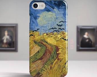 """Vincent van Gogh, """"Wheat Field with Crows"""". iPhone 8 Case Art iPhone 7 Case iPhone 6 Plus Case and more. iPhone 8 TOUGH cases."""