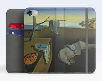 "Salvador Dali, ""The Persistence of Memory"". iPhone 8 Wallet case, iPhone 7 Wallet case  iPhone 6 Plus Wallet case. Samsung Wallet cases."