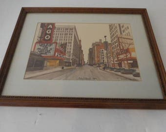 Two Chicago Prints - State Street 1984 and Untitled 1984 by Michalec