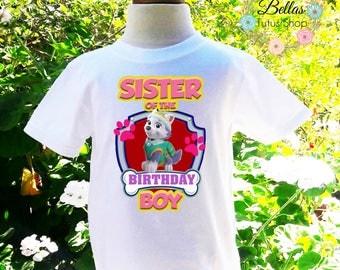 Paw Patrol Sister of the Birthday Boy Shirt Paw Patrol Sister Birthday Boy Shirt Sister Custom Birthday Shirt-PP005
