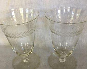 Laurel Leaf Glasses set/2
