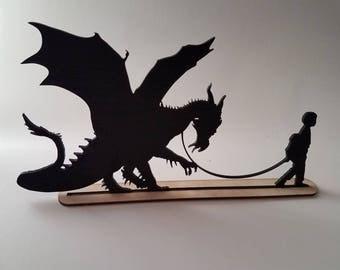 A Boy Walking His Dragon