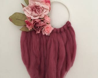 Elenore Floral Collection Wall Art Merino Floral Dreamcatcher Gypsy Boho Beach