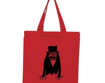 Babadook Horror Canvas Tote Bag Market Pouch Grocery Reusable Halloween Merch Massacre Black Friday Christmas