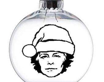 Carol Walking Dead Walker Zombie  Christmas Ornament Glass Disc Holiday Horror Merch Massacre