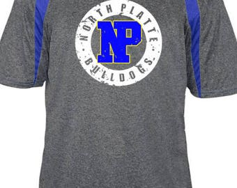 North Platte Bulldogs T-Shirt / School Spirit Apparel / Mascot T-Shirt / Gifts For Him  / Graphic T-Shirt / Custom School Shirt / Bulldogs