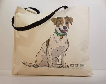 Jack Russell shopping bag - Tote bag for Dog lovers