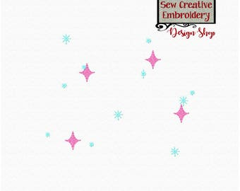 Starry Sparkles Embroidery Design Add-On , Sparkling Stars Embroidery Design - Machine Embroidery Files - Digital Download