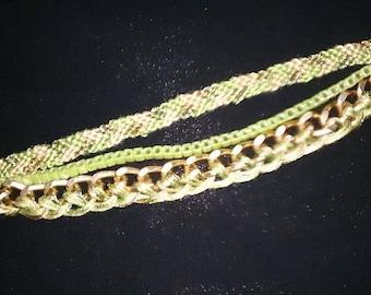 Lucky Chain D'api cone braided Cuff Bracelet