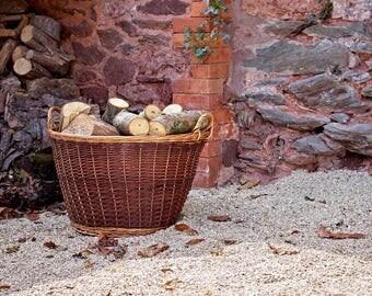 Large Wicker Log Basket