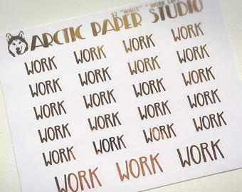 Work CAPS SCRIPTS - FOILED Sampler Event Icons Planner Stickers