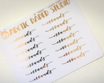 Errands - SCRIPTS - FOILED Sampler Event Icons Planner Stickers