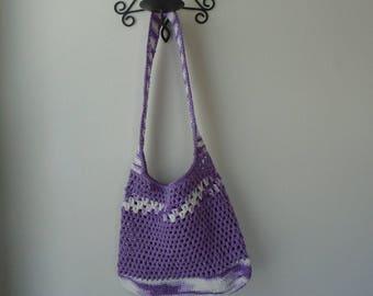 Crocheted Mesh Market Bag