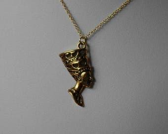 Nefertiti Jewelry,Nefertiti Necklace,Gold Nefertiti Necklace Pendant Jewelry,Cleopatra Necklace Jewelry,Ancient Egyptian Necklace Jewelry