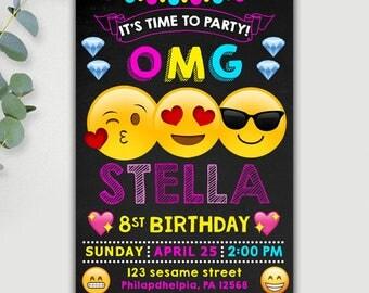 Emoji Invitations. Emoji Invitation, Emoji Birthday Invitation, Emoji Birthday, Emoji Party, Emoji Printable, Emoji Birthday Party, Emoji