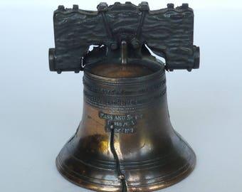 Vintage Miniature Bronze Liberty Bell