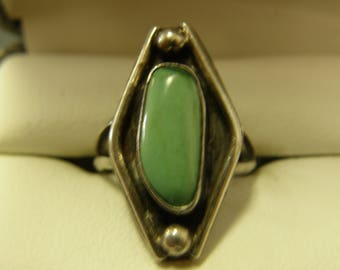 Blue Turquoise Sterling Silver Ring- Size 6