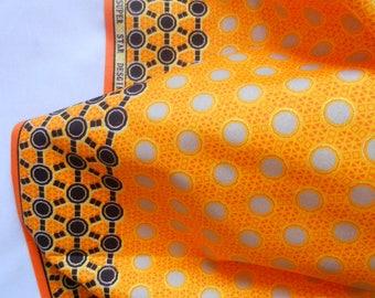 1.5 Yard African Fabric 1 Piece, Orange African Fabric, Orange Ankara  Fabric, Orange