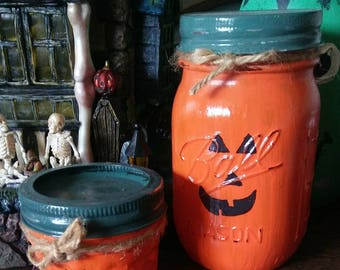 Mason Jar Pumpkin Set
