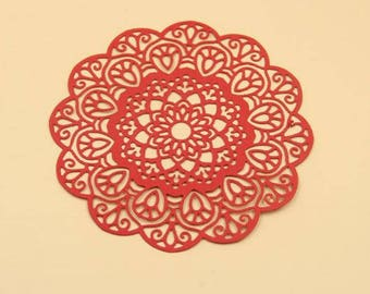 Flower Doily Filigree Die Cut ~ Scrapbooking, Card Making, Collage, Sizzix, Spellbinder, Cricut, Big Shot