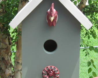 Handmade, Homemade Chicken Birdhouse, Bird House, Chicken Lovers, Bluebird, Decorative, Functional