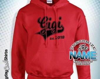 Gigi Established, Gigi Gift, Gigi Birthday, Gigi Hoody, Gigi Gift Idea, Baby Shower, Christmas gift , birthday Hoodies