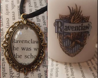 harry potter ravenclaw gift set. candle and necklace