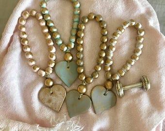 Petite heart blessing beads