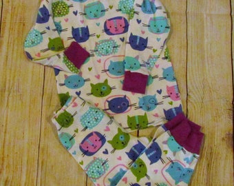 Size 2T Girls Kitten Pajamas