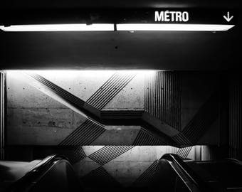 Montreal Photography, 'Into the Underground' Montreal Print, Fine Art Photography, Travel Photography, Montreal Metro, Limited Edition