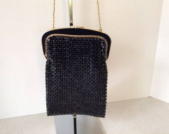 Whiting And Davis Black Mesh Evening Bag