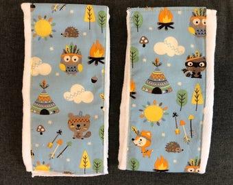 Woodland Friends - Burp cloth