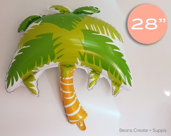 "Palm Tree Balloon | 28"", Tropical, Aloha, Hawaii, Beach, Pool"