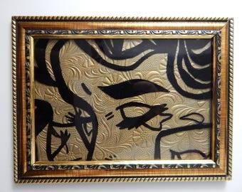 Lichtenstein - Small Gold Frame