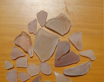 Genuine Surf Tumbled Pink Lavender purple AUTHENTIC Sea glass Beach glass