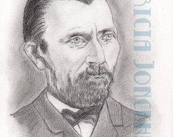 Vincent Van Gogh portrait from photo