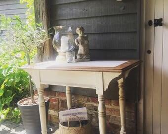 NOW SOLD ** Gorgeous Vintage Oak Table Desk Console