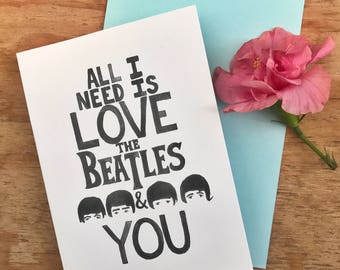 The Beatles and You - Greeting Card