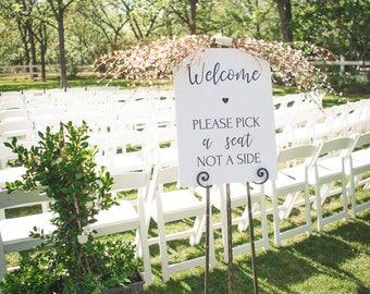 Wedding: Pick a seat